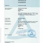 Zertifikat DIN EN ISO 3834-3