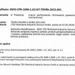 Certyfikat EN 1090-1-2009